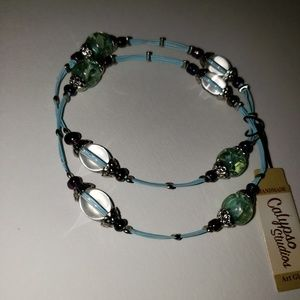 Handmade Blue Glass Bracelet Set